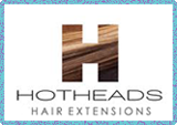 Hot Heads 'hair extensions' product logo.