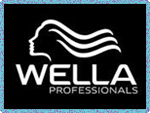 Wella hair salon product logo.